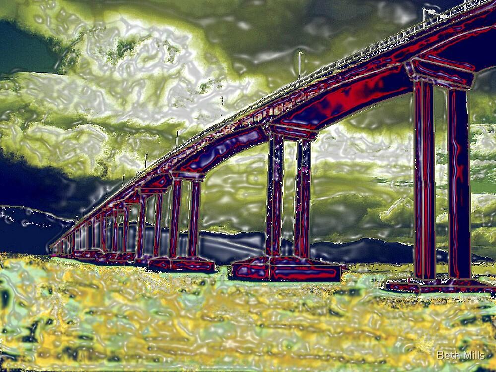 Tasman Bridge, Hobart Tasmania by Beth Mills