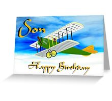 Biplane - Happy Birthday Son card Greeting Card