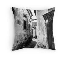 Water Town in Black & White 2 Throw Pillow