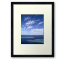 Ribbon Sky Framed Print