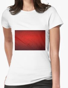Jesus Christ Profile in Red Womens Fitted T-Shirt
