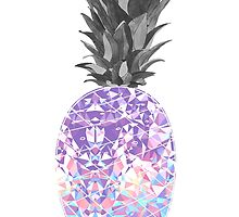 geometric pineapple by kirsten-leigh