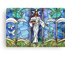 Jesus Stained Glass Canvas Print