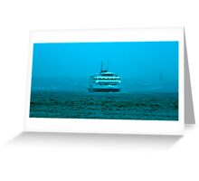 North Sea Ferry January 2008. Greeting Card