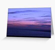 The North Sea at Sunset Greeting Card