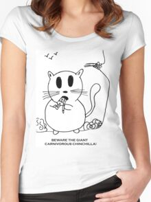 Beware The Chinchilla! Women's Fitted Scoop T-Shirt