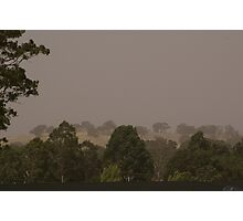 fires'n dust , Calder Highway Faraday, central vic Photographic Print