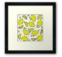 Lemons, Fresh Lemons Framed Print