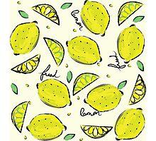 Lemons, Fresh Lemons Photographic Print