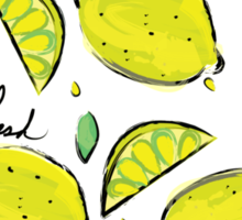 Lemons, Fresh Lemons Sticker