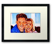 My friend Karen &Joe Framed Print