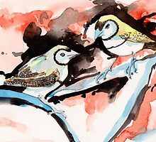 Double Bar Finches by TASHHOFER