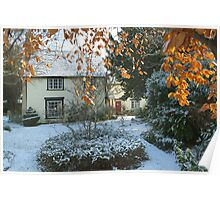 Farm in the Snow Poster