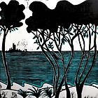 "Port Philip Bay - The Peninsula by Belinda ""BillyLee"" NYE (Printmaker)"