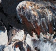 Eagle on Treestump Sticker