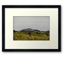 Across and over. Framed Print