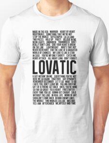 Lovatic Songs Unisex T-Shirt