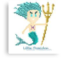 Pisces Male Chibi Pixel Art  Canvas Print