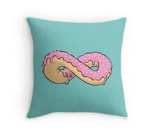 Donuts Forever Throw Pillow