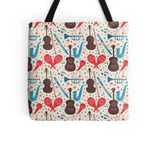 Music Instruments Pattern Tote Bag