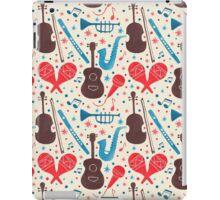 Music Instruments Pattern iPad Case/Skin