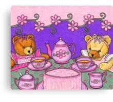 Teddy Bear Tea Party Canvas Print