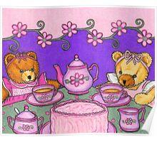Teddy Bear Tea Party Poster