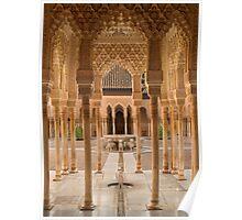Plaza de Leones Alhambra Palace Granada Spain Poster
