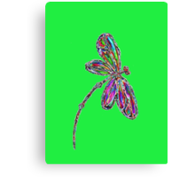 Neon Dragonfly - Lime Canvas Print