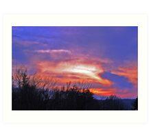 Amazing sky Art Print