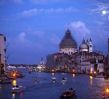 Venice At Nightfall by phil decocco
