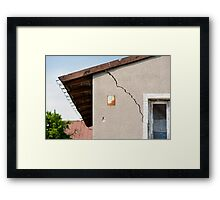Architecture detail of damaged house Framed Print
