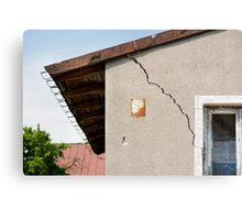 Architecture detail of damaged house Canvas Print