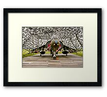 Harrier GR.7 ZD407 hiding Framed Print