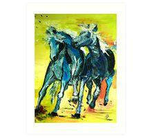 blue buddies Art Print