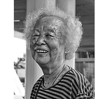 A Friendly Chinese Lady Photographic Print