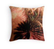 Fireworks in paradise Throw Pillow