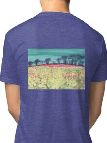 Field of spring flowers Tri-blend T-Shirt