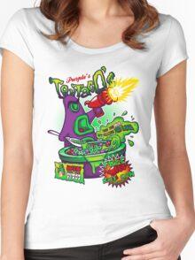 Purple's Tentaco's Women's Fitted Scoop T-Shirt