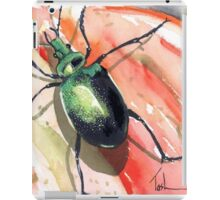Green Carab Beetle iPad Case/Skin