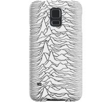 Pulsar waves - white&black Samsung Galaxy Case/Skin