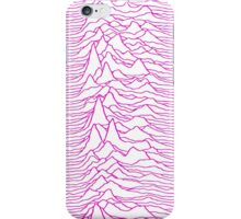 Pulsar waves - White&Pink  iPhone Case/Skin