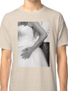 Bride and groom hugging together Classic T-Shirt