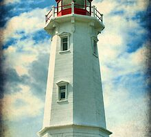 Louisbourg Lighthouse, Nova Scotia by Amanda White