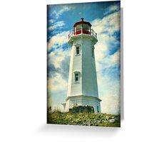 Louisbourg Lighthouse, Nova Scotia Greeting Card