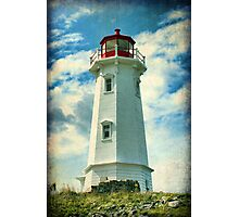 Louisbourg Lighthouse, Nova Scotia Photographic Print