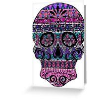 Aztec Skull Greeting Card