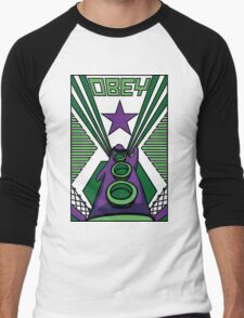OBEY Purple Tentacle Men's Baseball ¾ T-Shirt