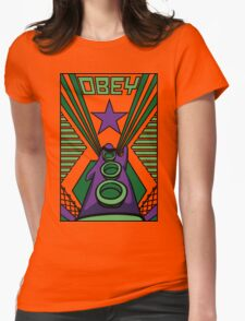 OBEY Purple Tentacle Womens Fitted T-Shirt