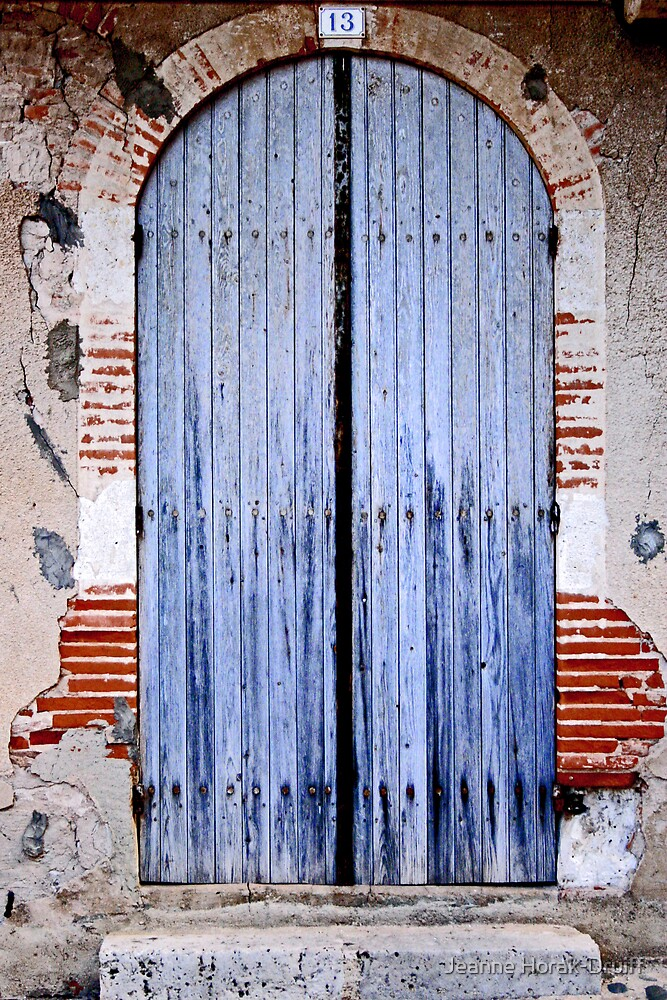 Blue door by Jeanne Horak-Druiff
